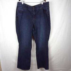Lane Bryant Jeans Boot Cut Size 26 Dark Wash